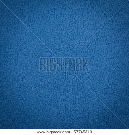 Blue leather macro shot
