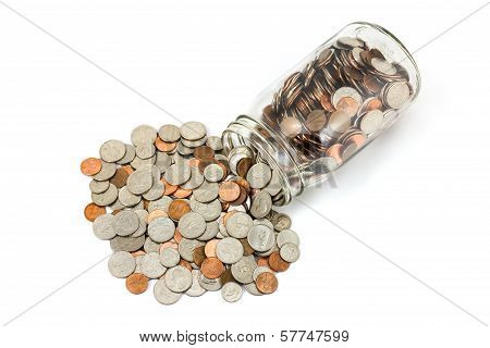 Spilled Jar Of Change