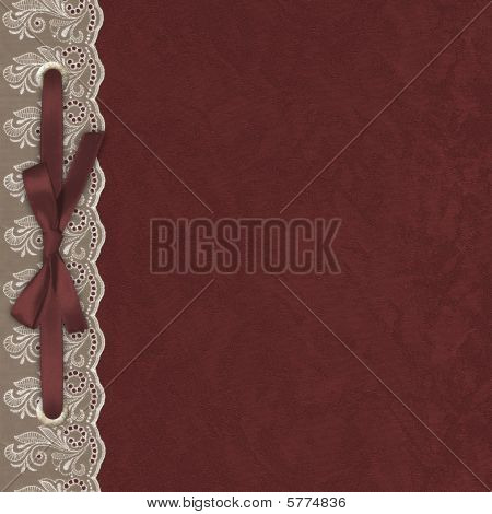 The Abstract Background With A Lace. Textile.