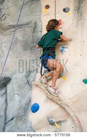 Girl Rock Climb
