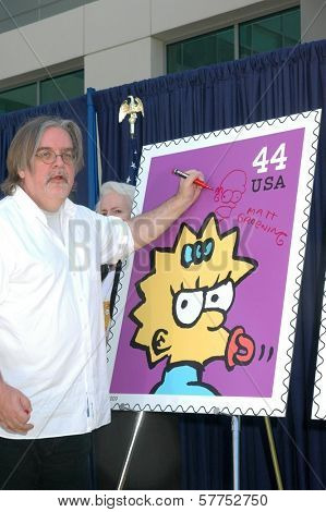Matt Groening  at the ceremony dedicating US Postal Stamps to the Television Show 'The Simpsons'. Twentieth Century Fox, Los Angeles, CA. 05-07-09