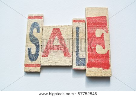 Sale Sign With Colorful Letters