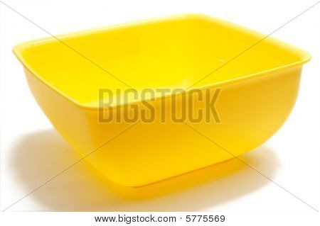 Square Yellow Bowl