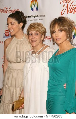 Jennifer Lopez with her sister and her mother  at the 2009 Noche De Ninos Gala. Beverly Hilton Hotel, Beverly Hills, CA. 05-09-09