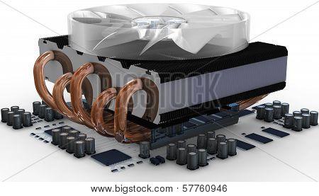 Cpu Fan On Radiator