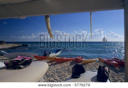 Sailboards On Bayahibe Beach - Dominican Republic
