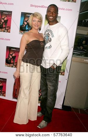 Lisa Arturo and Willie Gault  at the Los Angeles Premiere of