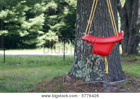 Red Baby Swing