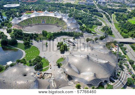 Stadium of the Olympiapark in Munich,
