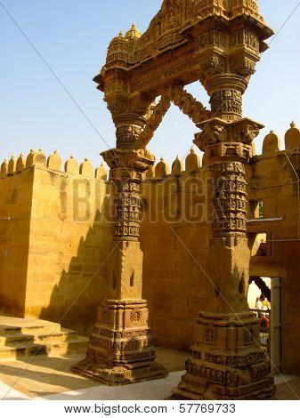 Carved Gateway Jain Temple In Rajasthan