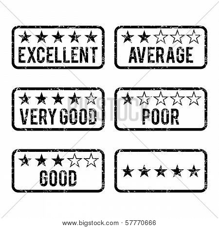 Review Rating Rubber Stamps