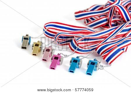 multicolored Whistle-striped flag