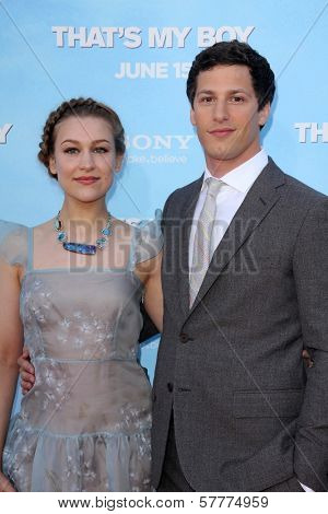 Andy Samberg and Joanna Newsom at the