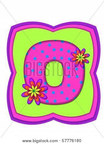 Alphabet Daisy Daze O