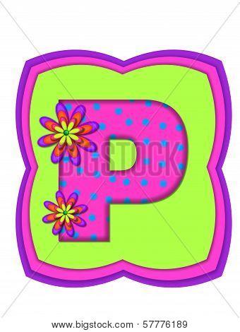 Alphabet Daisy Daze P