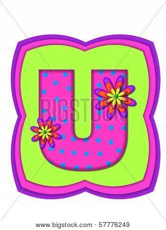 Alphabet Daisy Daze U