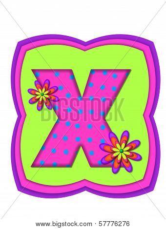 Alphabet Daisy Daze X