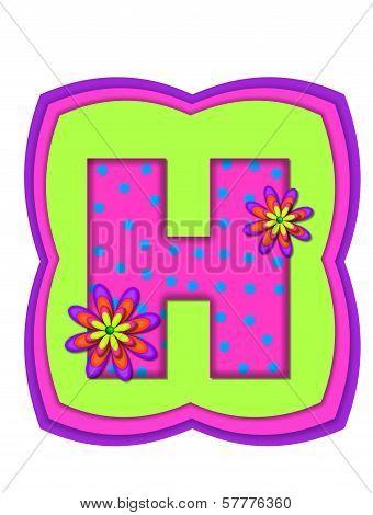 Alphabet Daisy Daze H