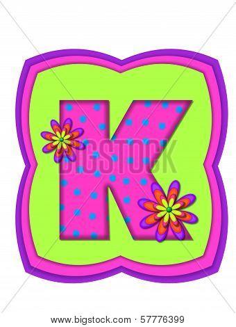 Alphabet Daisy Daze K