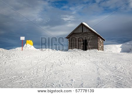 Old Barn In Madonna Di Campiglio Ski Resort, Italian Alps, Italy