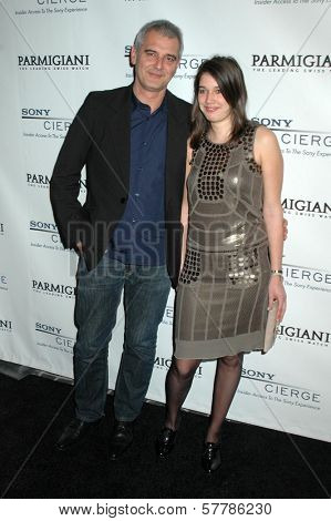 Laurent Cantet and daughter Marie at the Sony Pictures Classics 2009 Oscar Nominees' Party. Cecconi's, Los Angeles, CA. 02-21-09