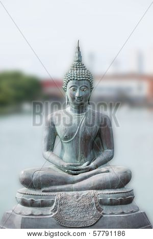 Buddha Statue In Seema Malaka Temple In Colombo, Sri Lanka