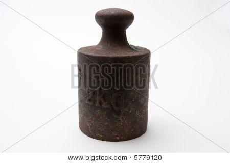 Peso de 2Kg de Rusty