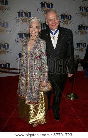Buzz Aldrin and wife Lois  at the 19th Annual Night Of 100 Stars Gala. Beverly Hills Hotel, Beverly Hills, CA. 02-22-09