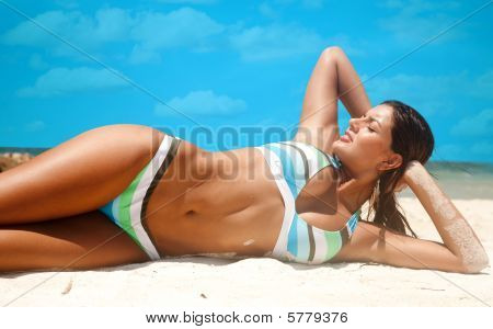 Bikini Woman At The Beach