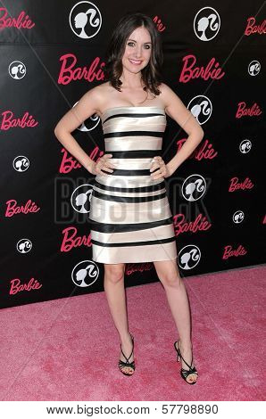 Alison Brie at Barbie's 50th Birthday Party. Barbie's Real-Life Malibu Dream House, Malibu, CA. 03-09-09