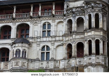 Renaissance facade at the castle of Blois. LoireValley France