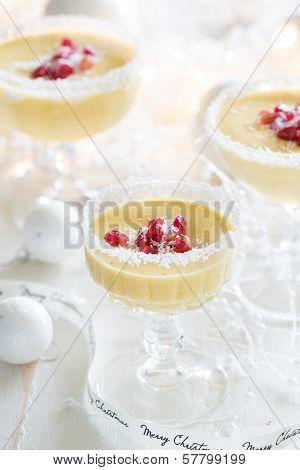 Mango Mousse Christmas Dessert