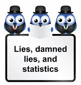 image of statistician  - Lies Damned Lies and Statistics quotation isolated on white background - JPG