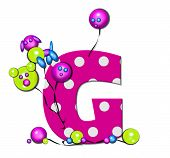 Alphabet Party Balloon G