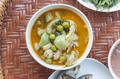image of curry chicken  - Thailand food Green curry Chicken Intense soup