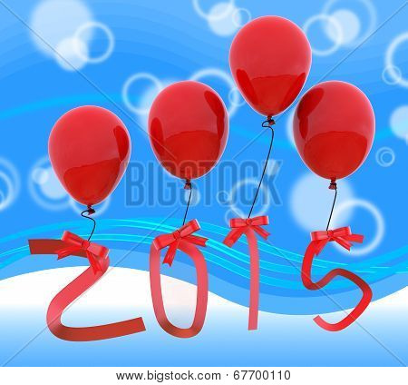 Twenty Fifteen Shows Happy New Year And 2015