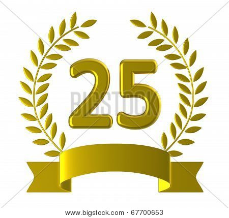 Twenty Fifth Means Happy Birthday And Anniversary