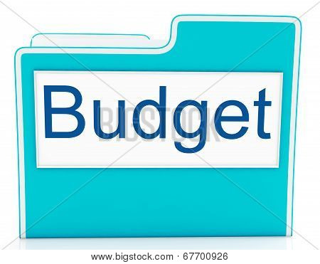 File Budget Indicates Expenditure Document And Cost