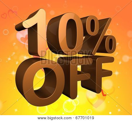 Ten Percent Off Indicates Savings Closeout And Clearance