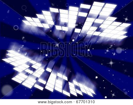 Zoom Background Shows Deep Space And Backdrop