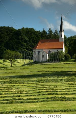 Lonely church in Bavary