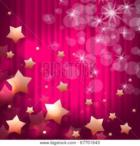 Background Stars Indicates Light Burst And Glaring