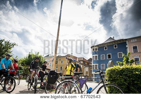 Cyclist In Rest