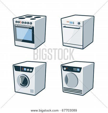 Home Appliances 2 - Cooker, Dishwasher, Dryer, Washing Machine