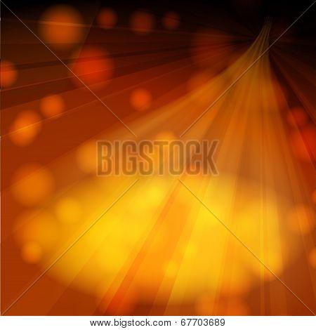 Warm orange rays