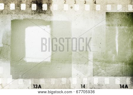 Film negative frames grunge background