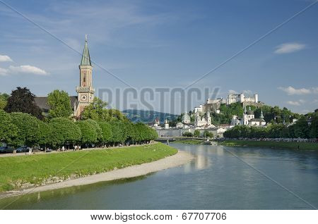 Salzburg City Historic Center And Evangelical Christuskirche