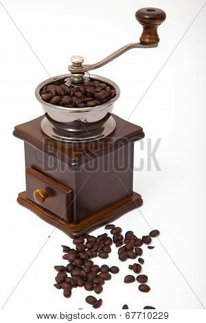 Isolated Coffee Bean Grinder