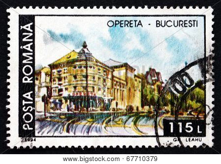 Postage Stamp Romania 1994 Opera House, Bucharest