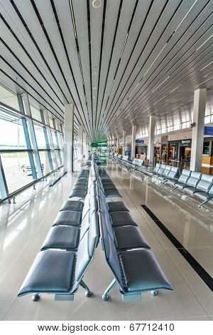 PHU QUOC, VIETNAM - APRIL 27, 2014: Departure lounge of  Phu Quoc international airport, which was completed in November 2012 and was put into operation on 2 December 2012